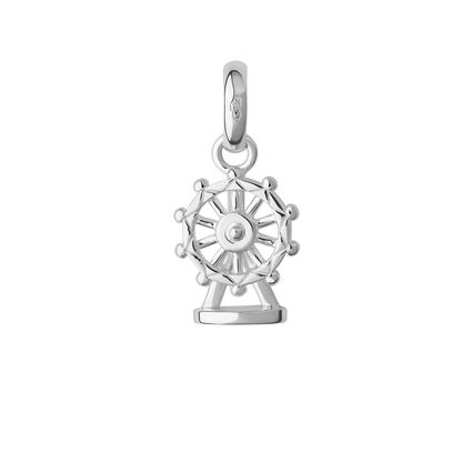 Sterling Silver London Eye Charm, , hires