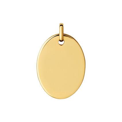 Narrative 18kt Yellow Gold Vermeil Large Oval Disc Pendant, , hires