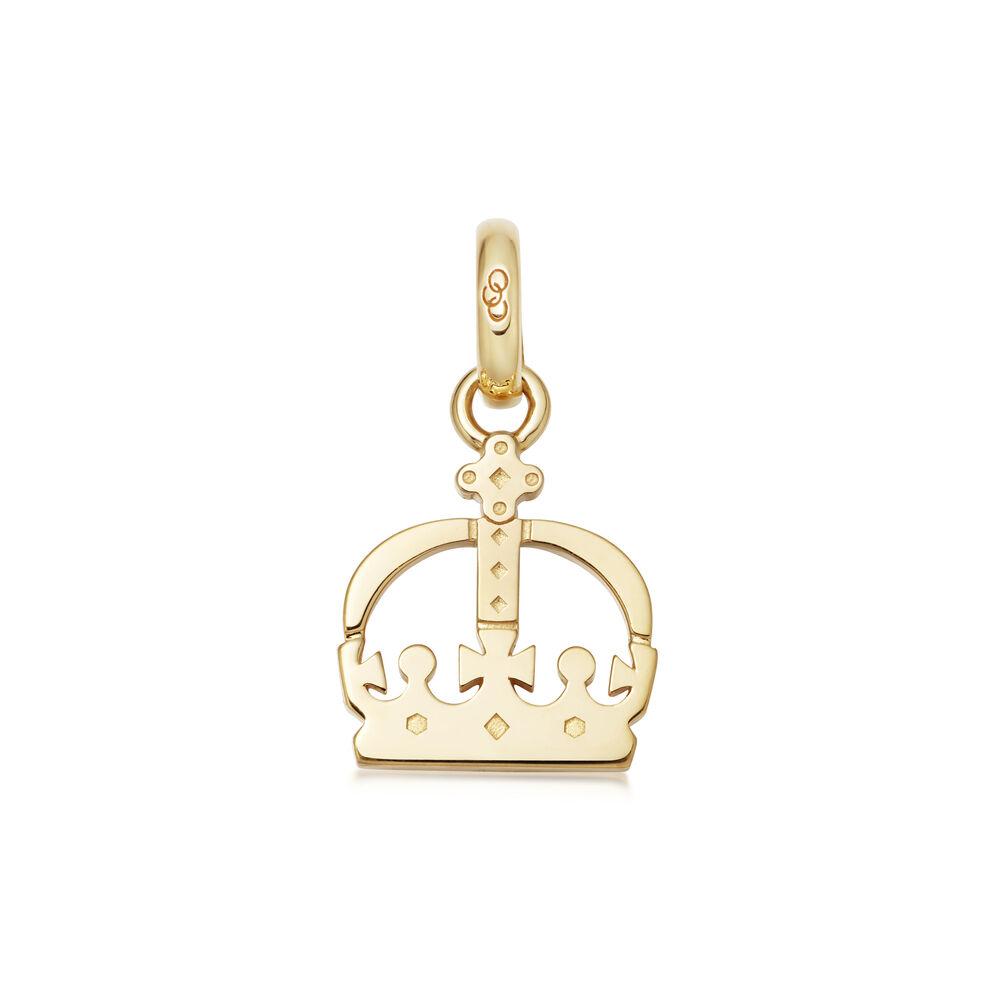 Ascot 18kt Yellow Gold Vermeil Crown Charm, , hires