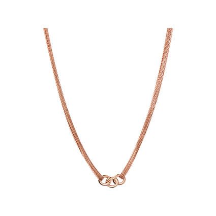 Essentials 18kt Rose Gold Vermeil Multi Chain Necklace, , hires