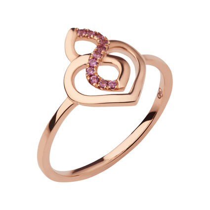 18K Rose Gold & Rhodolite Garnet Infinite Love Ring, , hires
