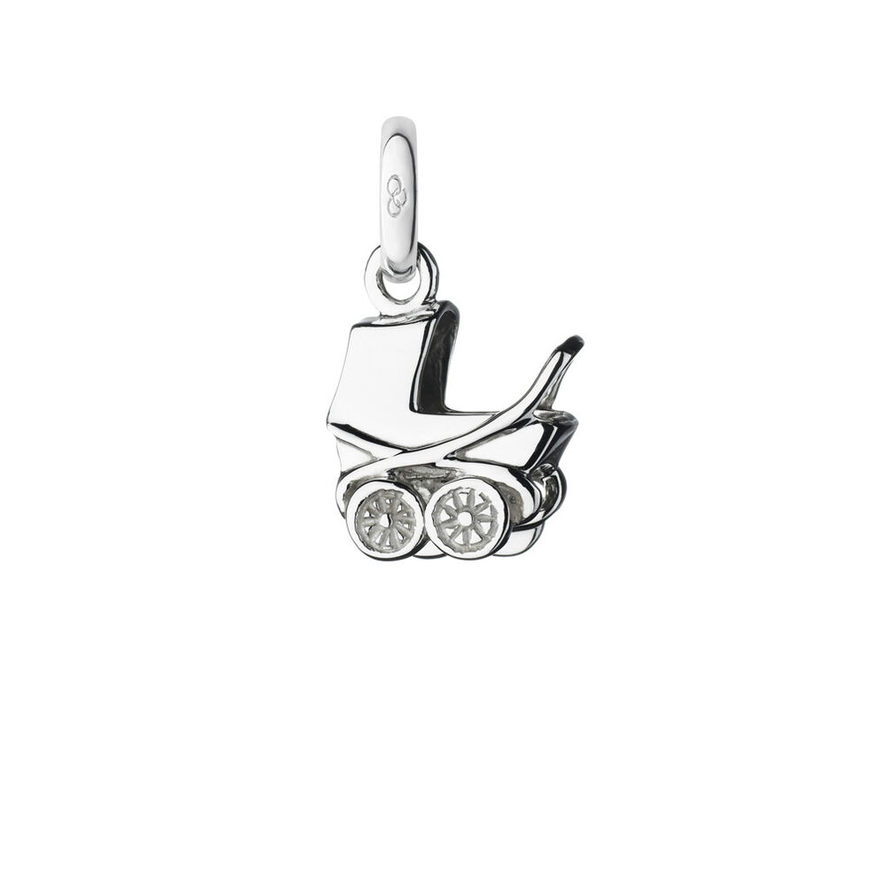 Sterling Silver Baby Pram Charm, , hires