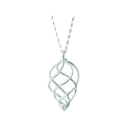 Sterling Silver Large Pendant Woven Necklace, , hires