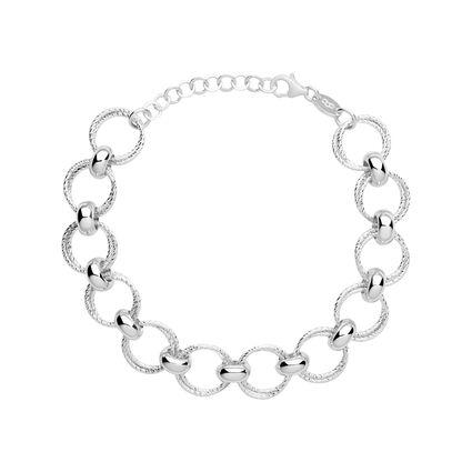 Aurora Sterling Silver Multi Link Bracelet, , hires
