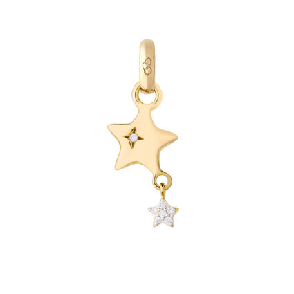 18K Yellow Gold & Diamond Shooting Star Charm, , hires