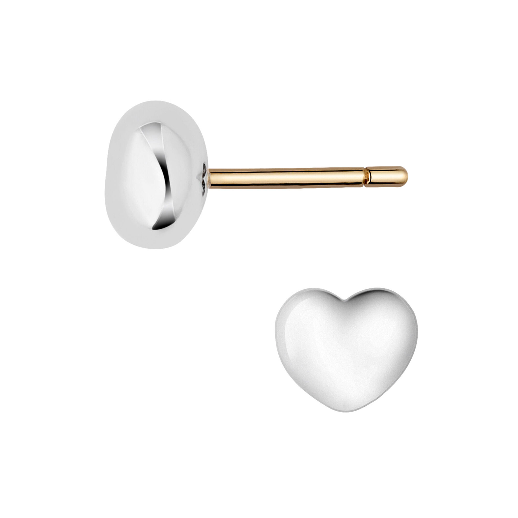 yellow gold diamond ye earrings heart