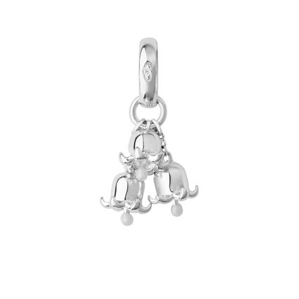Sterling Silver Lily of the Valley Charm, , hires