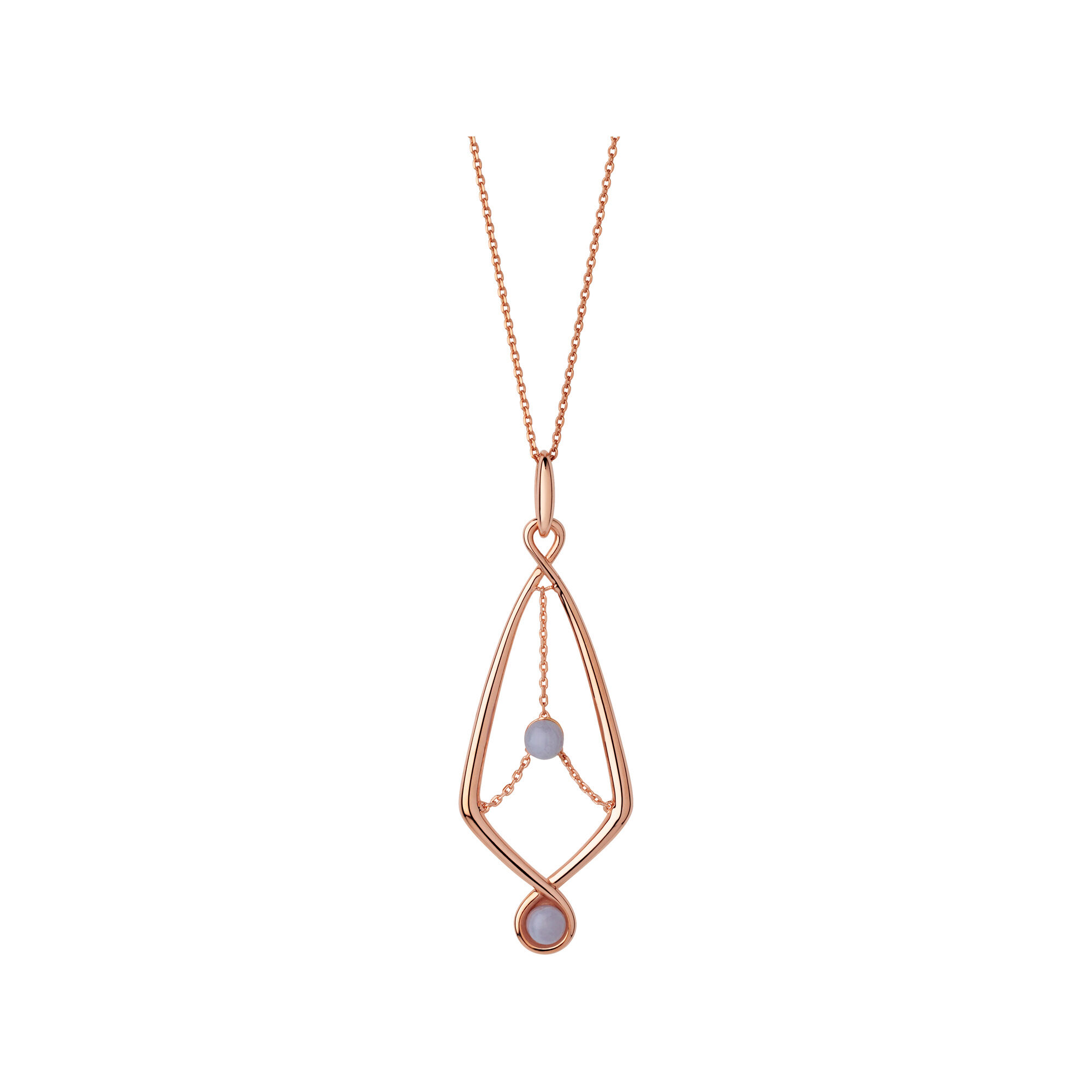 Serpentine 18kt rose gold vermeil blue lace agate gemstone serpentine 18kt rose gold vermeil amp blue lace agate gemstone pendant necklace hires aloadofball Choice Image