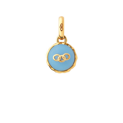 18K Yellow Gold Vermeil Blueberry Macaron Charm, , hires