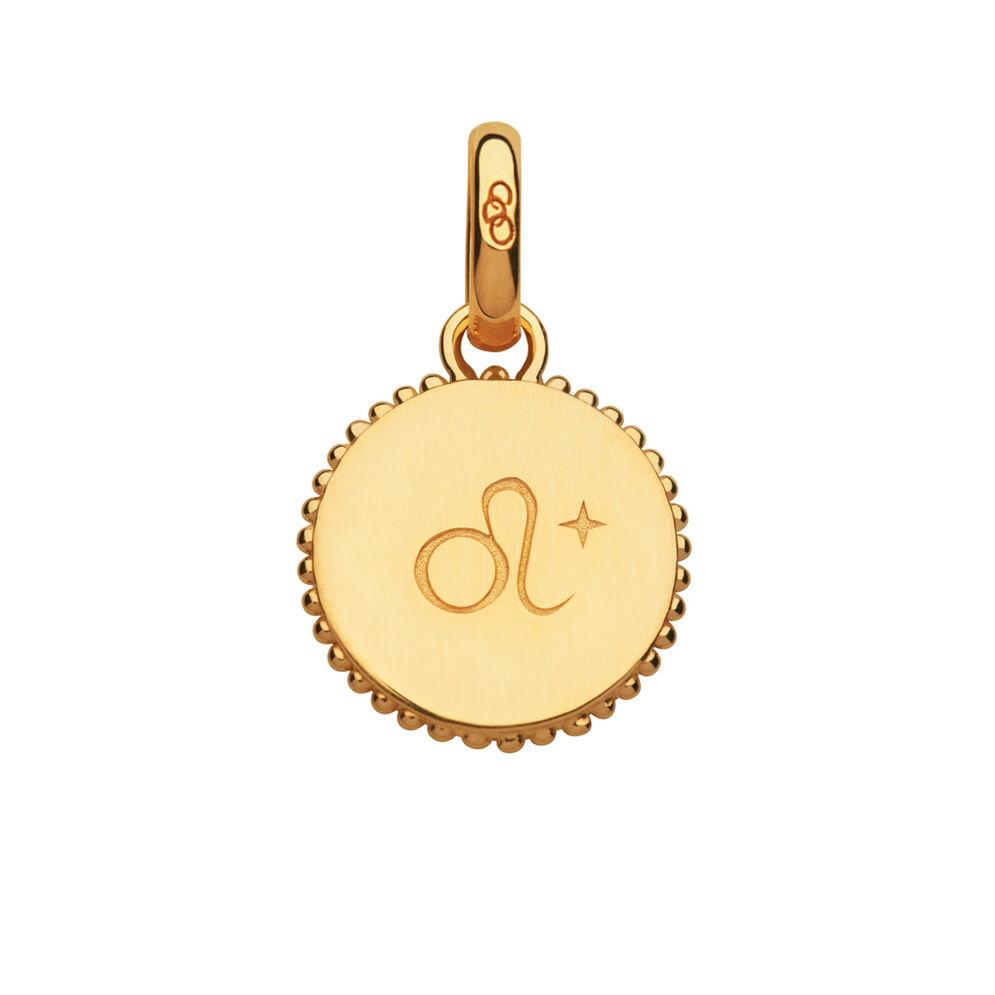 18kt Yellow Gold Vermeil Leo Zodiac Charm, , hires
