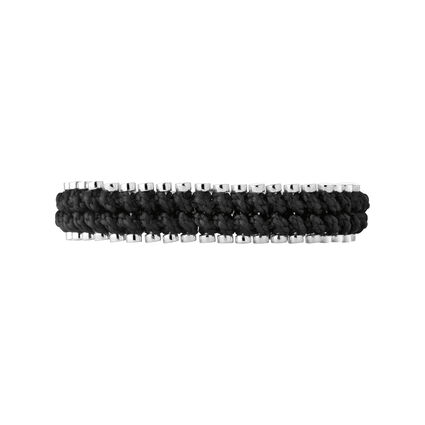 Mens Friendship Bracelet Black Rope, , hires