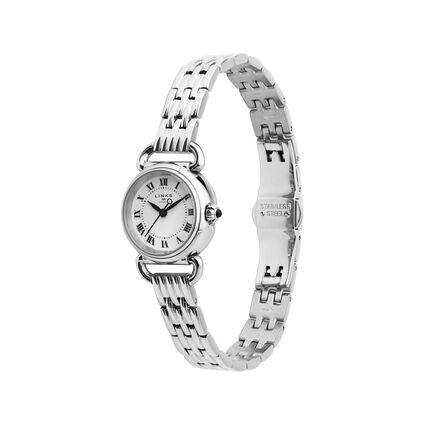 Driver Mini Round Stainless Steel Bracelet Watch, , hires
