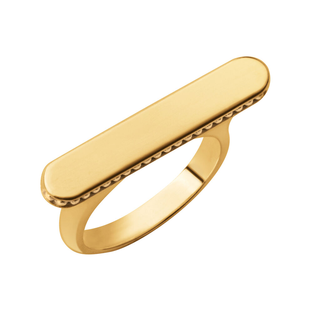 Narrative 18kt Yellow Gold Vermeil Long Ring, , hires
