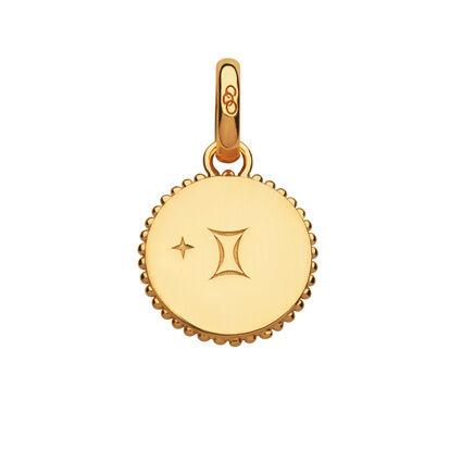 18ct Yellow Gold Vermeil Gemini Zodiac Charm, , hires