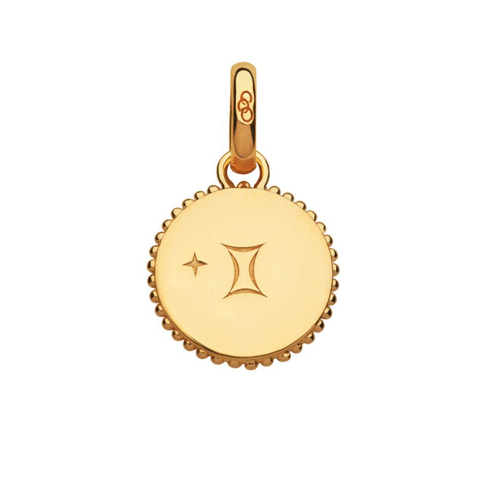 18kt Yellow Gold Vermeil Gemini Zodiac Charm, , hires