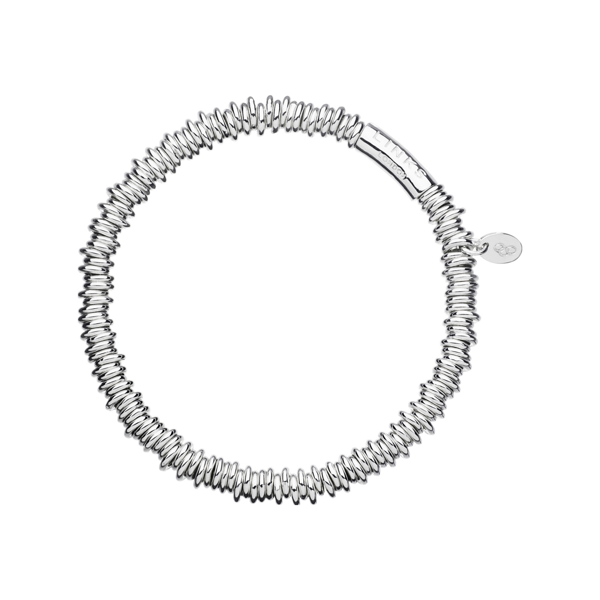 circle rod tiny interlinking bracelet small silver bangle oliver bonas bangles and bracelets jewellery