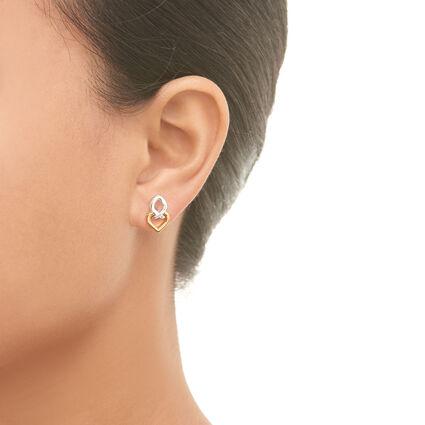 18K Yellow Gold Vermeil & Sterling Silver Infinite Love Earrings, , hires