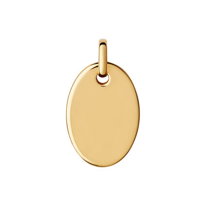 Narrative Small Oval Yellow Gold Vermeil Disc Pendant, , hires