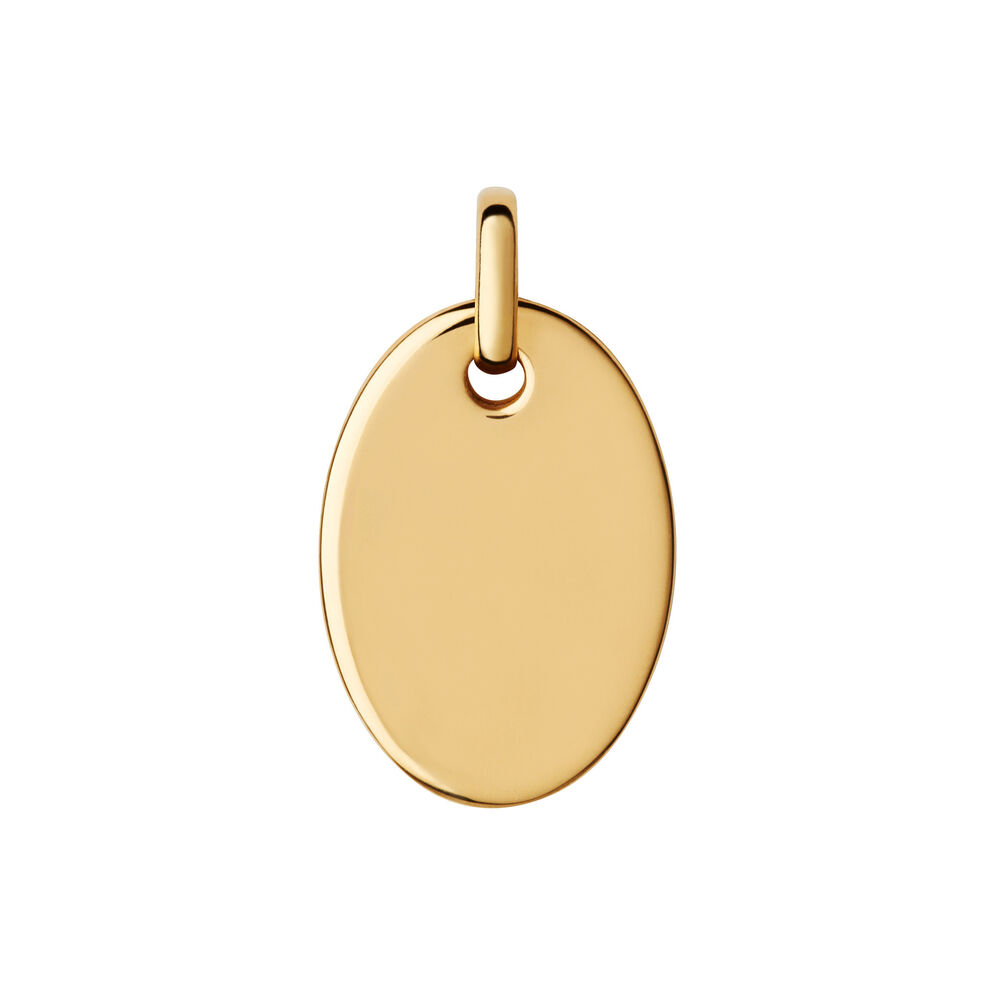 Narrative 18kt Yellow Gold Vermeil Small Oval Disc Pendant, , hires