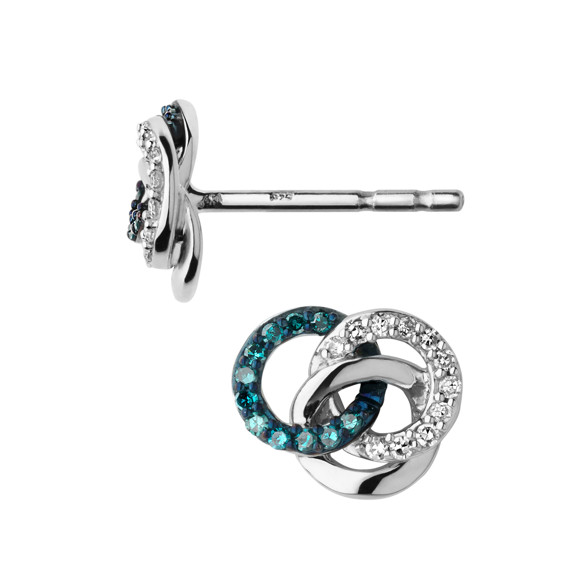 diamond silver earrings of stud earring en hires sterling links essentials treasured and white amp blue london eu