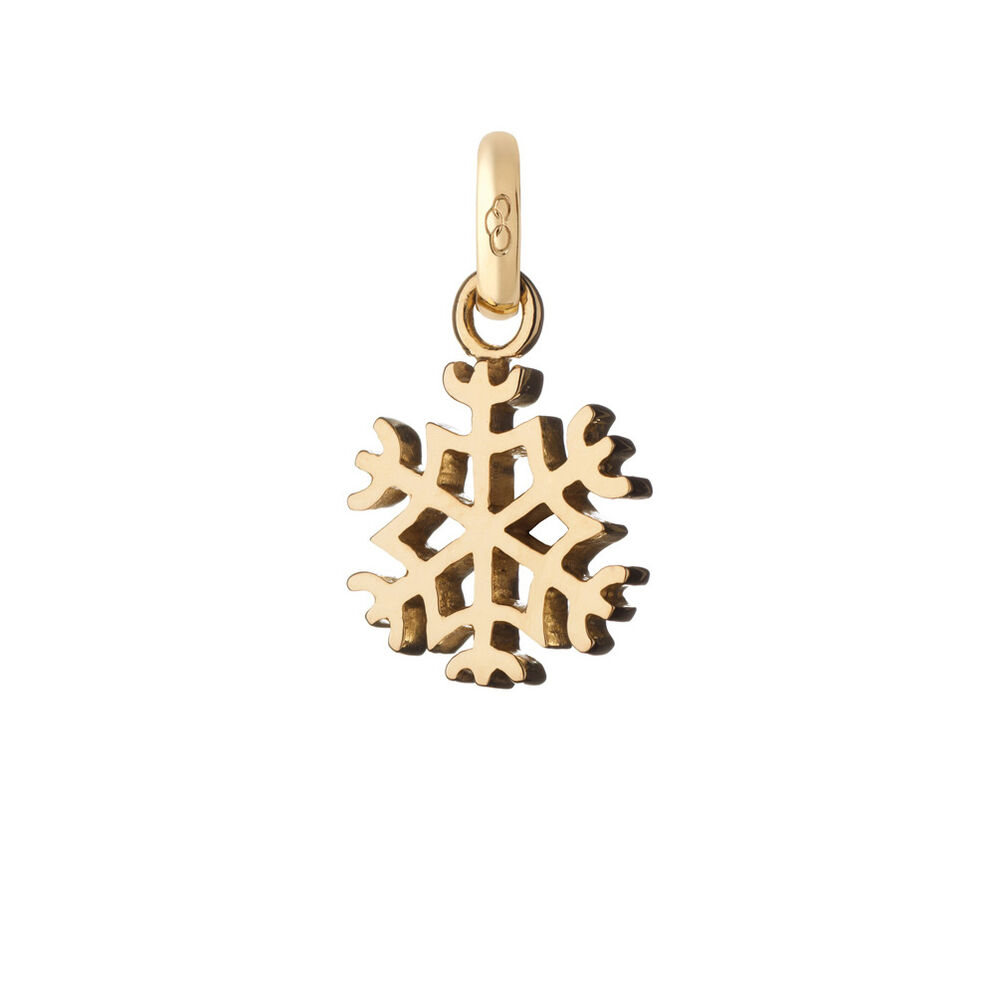 18kt Yellow Gold Snowflake Charm, , hires