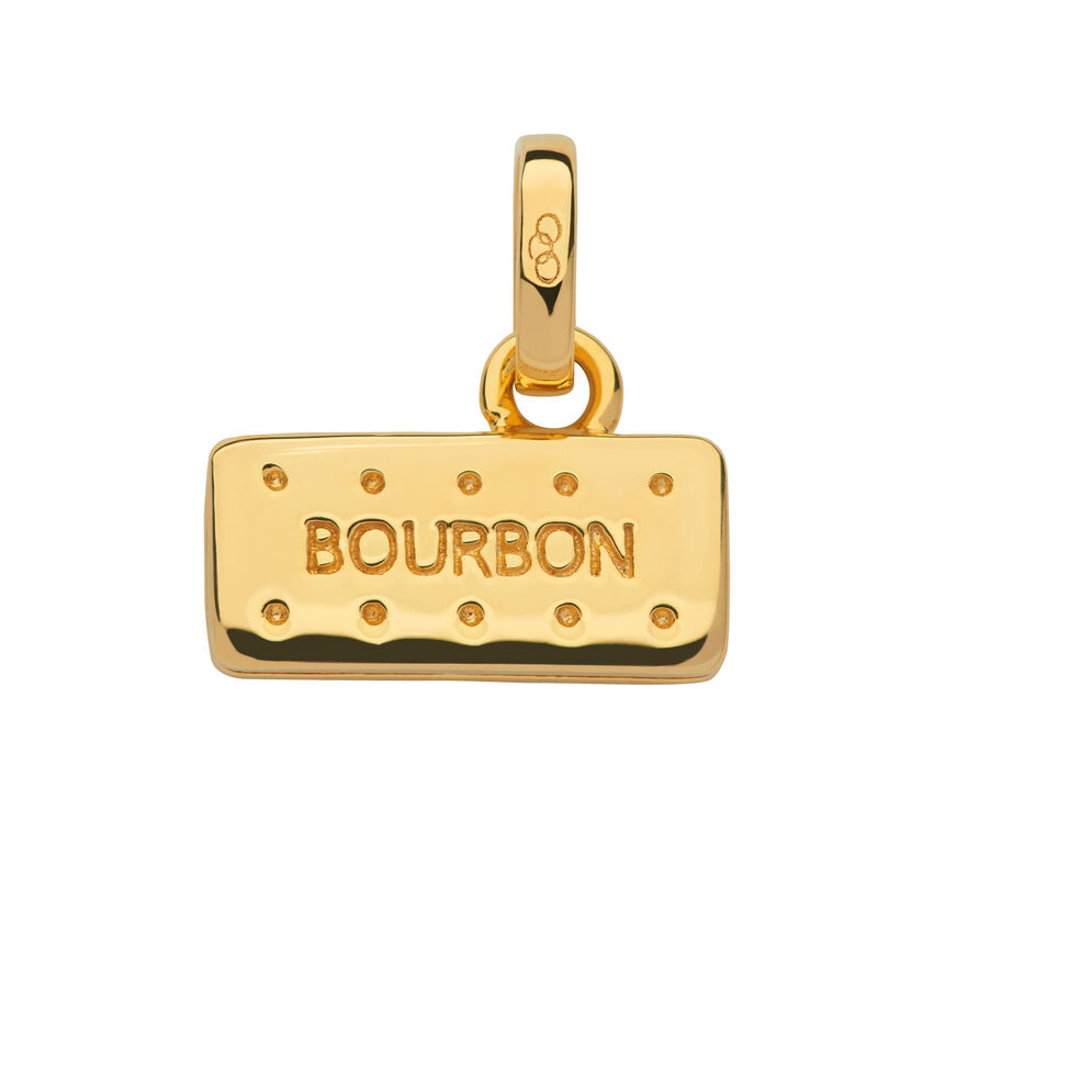 18kt Yellow Gold Vermeil Bourbon Biscuit Charm, , hires