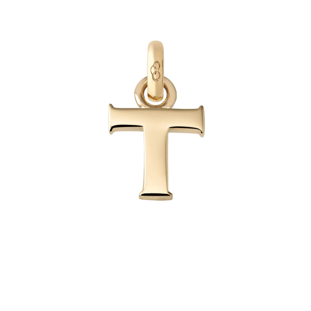18kt Yellow Gold T Charm, , hires