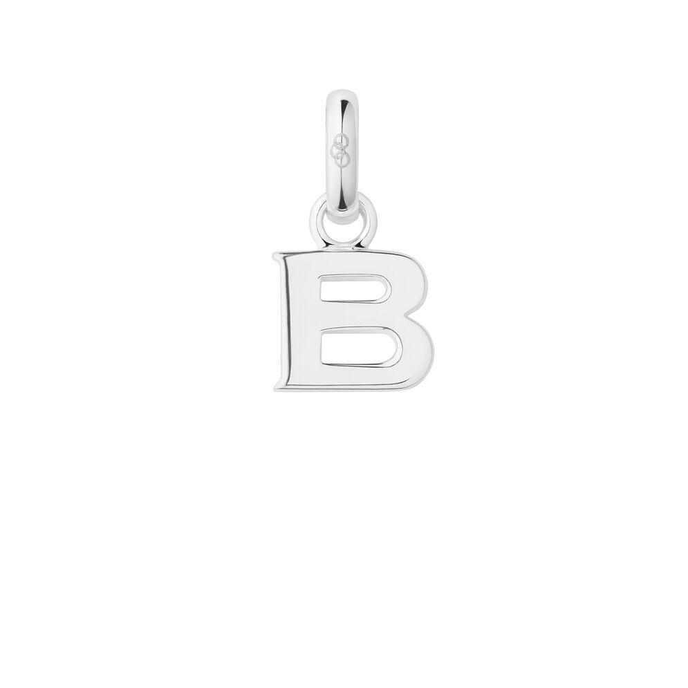 Sterling Silver B Charm, , hires