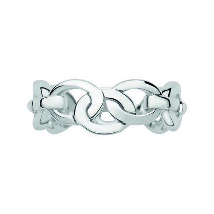 Signature Sterling Silver Band Ring, , hires