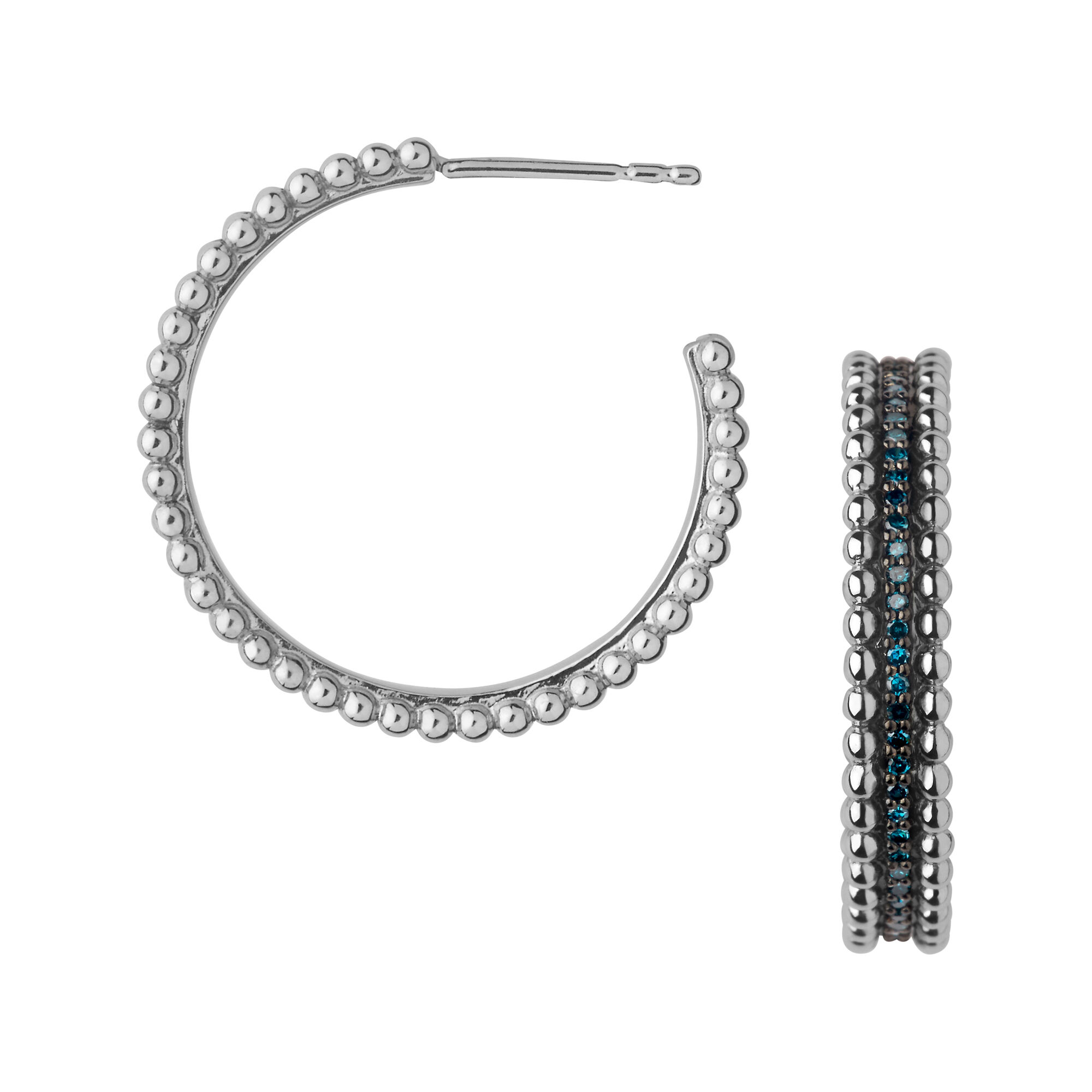 hoop and earrings products silver back love object annah single