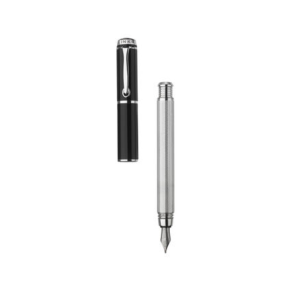 Inverse Stainless Steel Black Fountain Pen, , hires