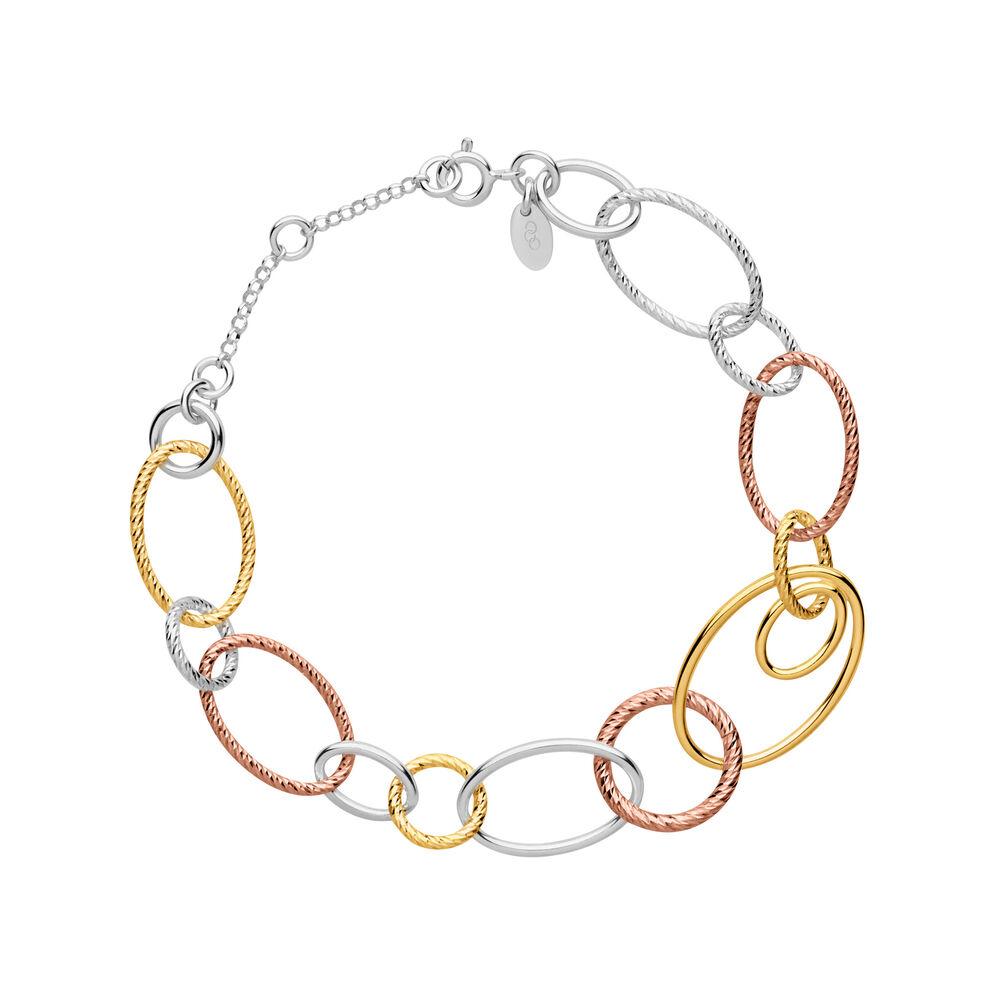 Aurora Mixed Metal Multi Link Bracelet, , hires