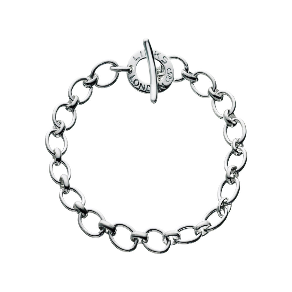Classic Sterling Silver Charm Bracelet, , hires