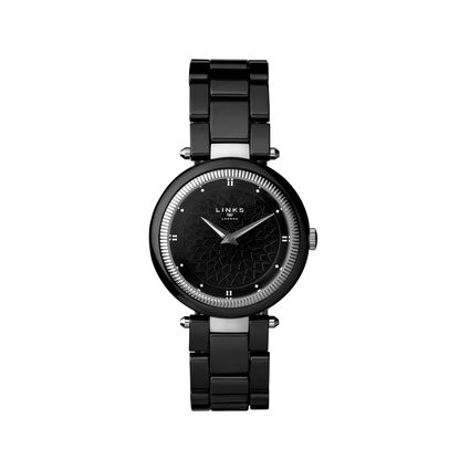 Timeless Black Ceramic Watch, , hires
