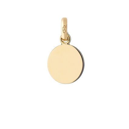 18kt Yellow Gold Disc Charm, , hires