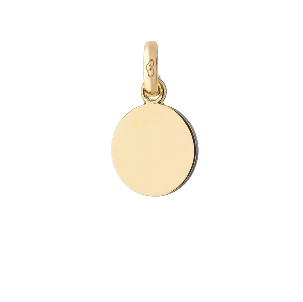 18ct Yellow Gold Disc Charm, , hires