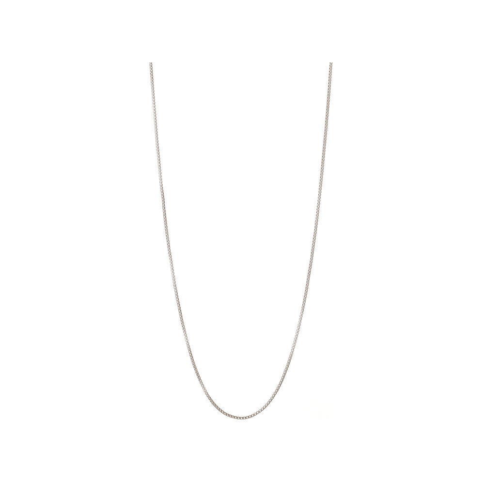 Essentials Sterling Silver Box Belcher Chain 67cm, , hires