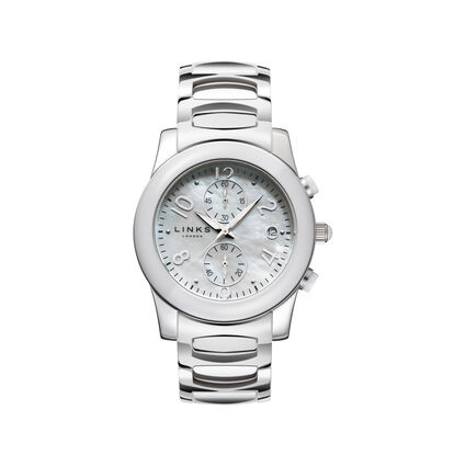 Phoebe Womens Stainless Steel White Ceramic Watch, , hires