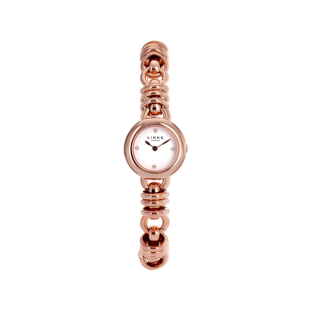Sweetie Womens Rose Gold Plate Bracelet Watch, , hires