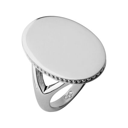 Narrative Sterling Silver Oval Ring, , hires
