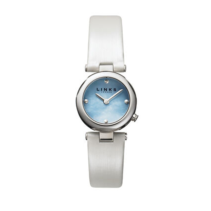 20/20 Sterling Silver Blue Dial Watch, , hires