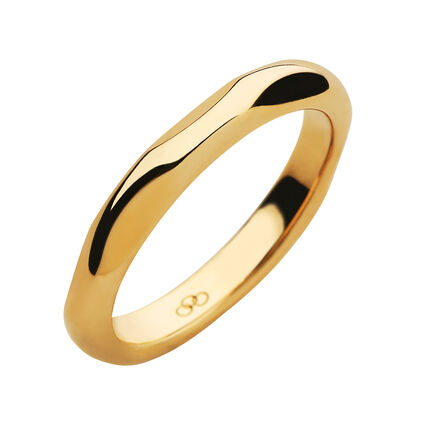 20/20 18kt Yellow Gold Band Ring, , hires