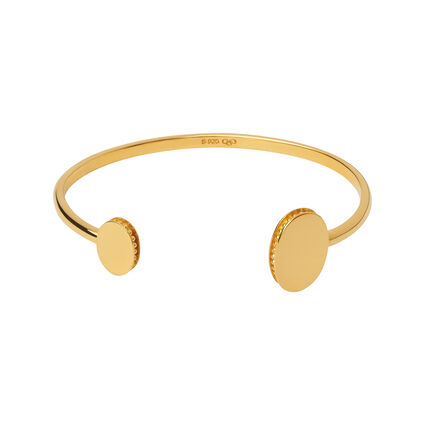 Narrative 18kt Yellow Gold Vermeil Open Double Cuff Bangle, , hires