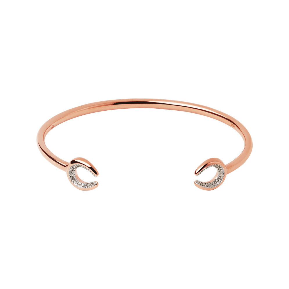 Ascot Diamond Essentials 18kt Rose Gold Vermeil Horseshoe Cuff, , hires