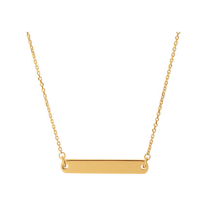 Narrative 18kt Yellow Gold Vermeil Short Bar Necklace, , hires