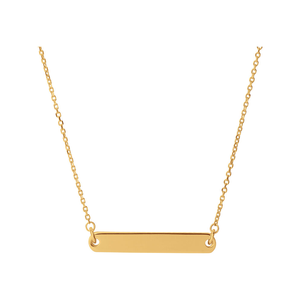 Narrative 18kt Yellow Gold Vermeil Short Bar Necklace, , hires