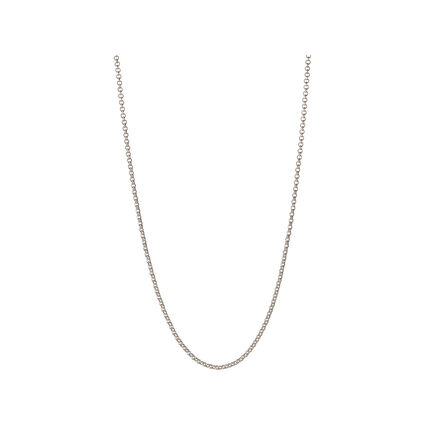 Essentials Sterling Silver Mini Belcher Chain 42cm, , hires