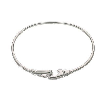 Essentials Sterling Silver Karabiner Bangle, , hires