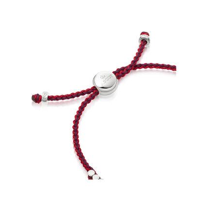 Ascot Sterling Silver, Red & Purple Cord Mini Friendship Bracelet, , hires