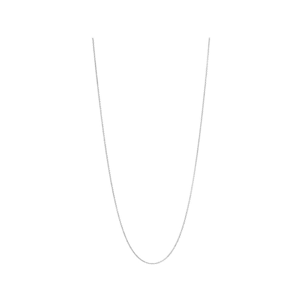 Essentials Sterling Silver 1.2mm Cable Chain 60cm, , hires